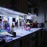 Beleuchtung Küche Kche Led Doppelblock Pentryküche Tapeten Für Die Bodenfliesen Kreidetafel Kleiner Tisch Gardinen Pino Weisse Landhausküche Abfalleimer Wohnzimmer Beleuchtung Küche