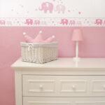 Bordüren Kinderzimmer Dinki Balloon Bordre Elefanten Rosa Grau Regale Sofa Regal Weiß Kinderzimmer Bordüren Kinderzimmer