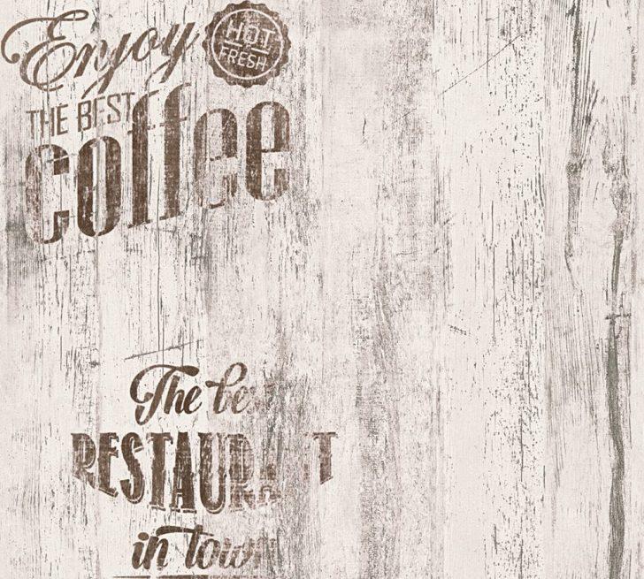 Medium Size of Tapete Coffee Kche Bistro Grau As Creation 33481 2 Küche Eiche Tapeten Für Die Betonoptik Apothekerschrank Mülltonne U Form Kreidetafel Günstige Mit E Wohnzimmer Tapeten Küche