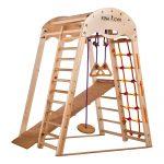 Klettergerüst Indoor Kletterdreieck Spielplatz Aus Holz Fr Klett Garten Wohnzimmer Klettergerüst Indoor
