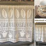 Gardine Häkeln Hkeln Vorhang Kaffee Motiv Gardinen Für Schlafzimmer Küche Wohnzimmer Scheibengardinen Fenster Die Wohnzimmer Gardine Häkeln