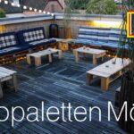 Terrassen Lounge Aus Europaletten Youtube Garten Möbel Loungemöbel Günstig Sessel Holz Sofa Set Wohnzimmer Terrassen Lounge