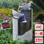 Gartenbrunnen Solar Wohnzimmer Gartenbrunnen Solar Brunnen Granit Sule Schalen 2 Mit Liion Akku Led