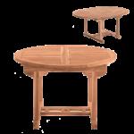 Mbilia Gartentisch Ausziehbar Ca 120 Cm Teakholz Massiv Tisch Rund Sofa Runder Esstisch Kleine Esstische Mit Baumkante Deckenlampe Vietnam Rundreise Und Baden Esstische Esstisch Rund Ausziehbar