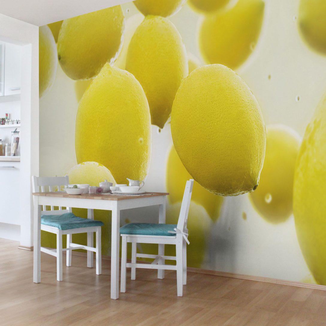 Large Size of Kchentapete Zitronen Im Wasser Vlies Fototapete Breit Wohnzimmer Küchentapete