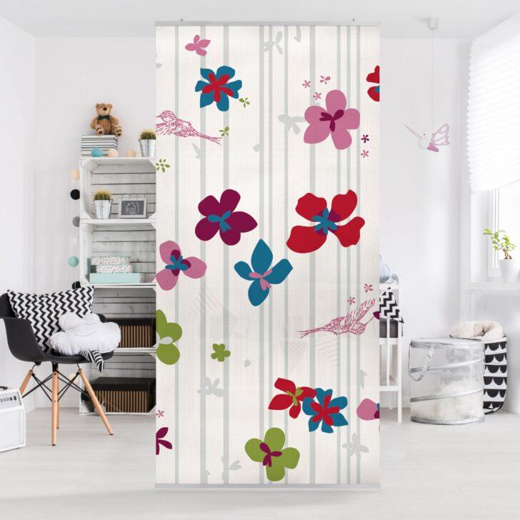 Medium Size of Raumteiler Kinderzimmer Floral Pattern 250x120cm Regal Sofa Regale Weiß Kinderzimmer Raumteiler Kinderzimmer