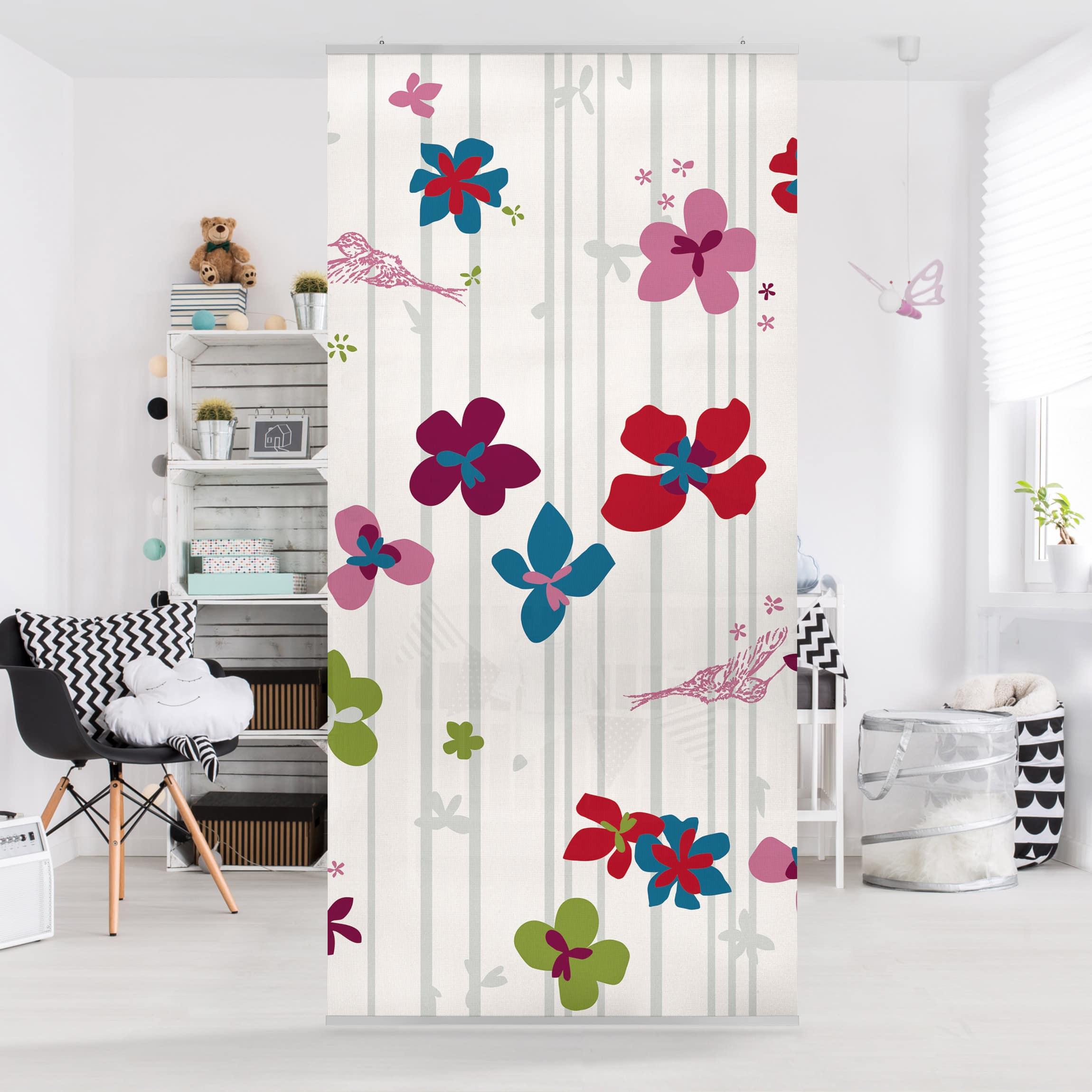 Full Size of Raumteiler Kinderzimmer Floral Pattern 250x120cm Regal Sofa Regale Weiß Kinderzimmer Raumteiler Kinderzimmer