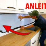 Küchenwand Kchenwand Nach Ma Verkleiden Einfach Selber Machen Youtube Wohnzimmer Küchenwand