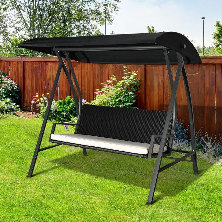 Medium Size of Gartenschaukel Erwachsene Outsunny Hollywoodschaukel 3 Sitzer Mit Dach Polyrattan Wohnzimmer Gartenschaukel Erwachsene