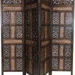 Paravent Terrasse Wohnzimmer Paravent Terrasse Orientalischer Raumteiler Aus Holz Krishna 200 180cm Garten