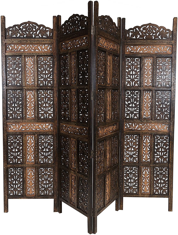 Full Size of Paravent Terrasse Orientalischer Raumteiler Aus Holz Krishna 200 180cm Garten Wohnzimmer Paravent Terrasse