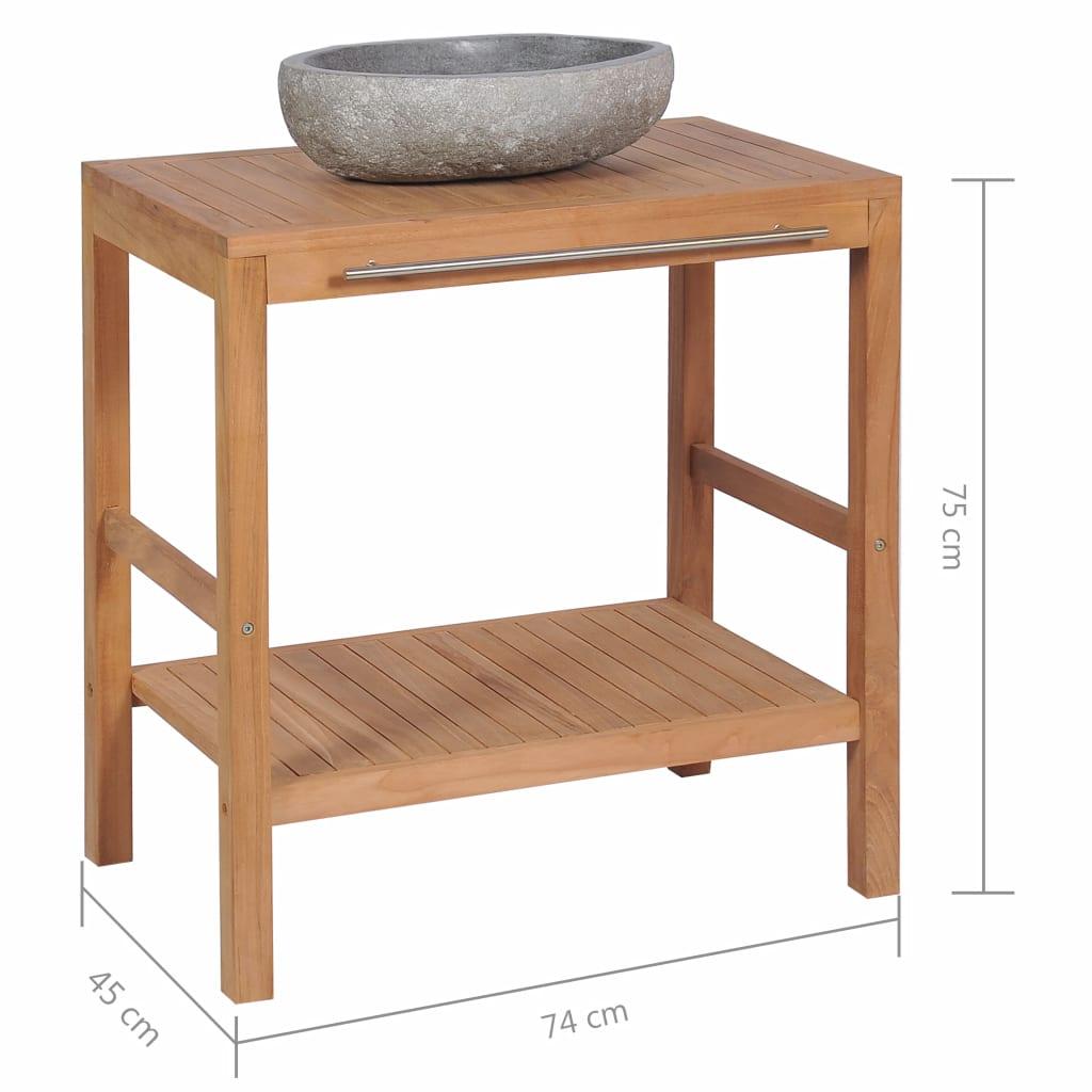 Full Size of Waschtischunterschrank Teak Massiv Mit Flussstein Waschbecken Badezimmer Bad Outdoor Küche Edelstahl Keramik Kaufen Wohnzimmer Outdoor Waschbecken