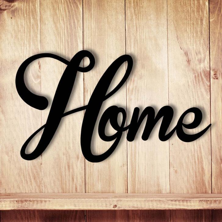 Medium Size of Wanddeko Dekoration Holz Holzschriftzug Schriftzug Home Zu Hause Betten Aus Garten Holzhaus Holzregal Küche Regal Schlafzimmer Komplett Massivholz Fliesen In Wohnzimmer Wanddeko Holz