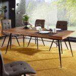 Holz Esstisch Finebuy Suva13243 1 Glas Shabby Rustikal Wildeiche Musterring Sofa Mit Holzfüßen Buche Lampen Stühle Bett Holzplatte Kleiner Weiß Esstische Holz Esstisch