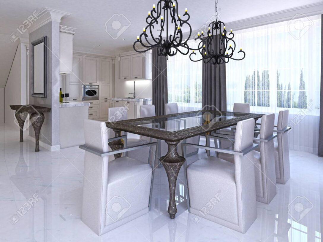 Large Size of Esstisch Glas Ausziehbar Oval Poco Aus Ikea Schwarz Rund Gold 80 Cm Roller Glitzer Glas Metall 90 Luxurises Esszimmer Mit Und Holztisch Weiß Glaswand Dusche Esstische Esstisch Glas