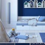 Kinderzimmer Jungs Kinderzimmer Kinderzimmergestaltung Fr Jungs In Blau Und Toller Weltkarten Kinderzimmer Regal Sofa Regale Weiß