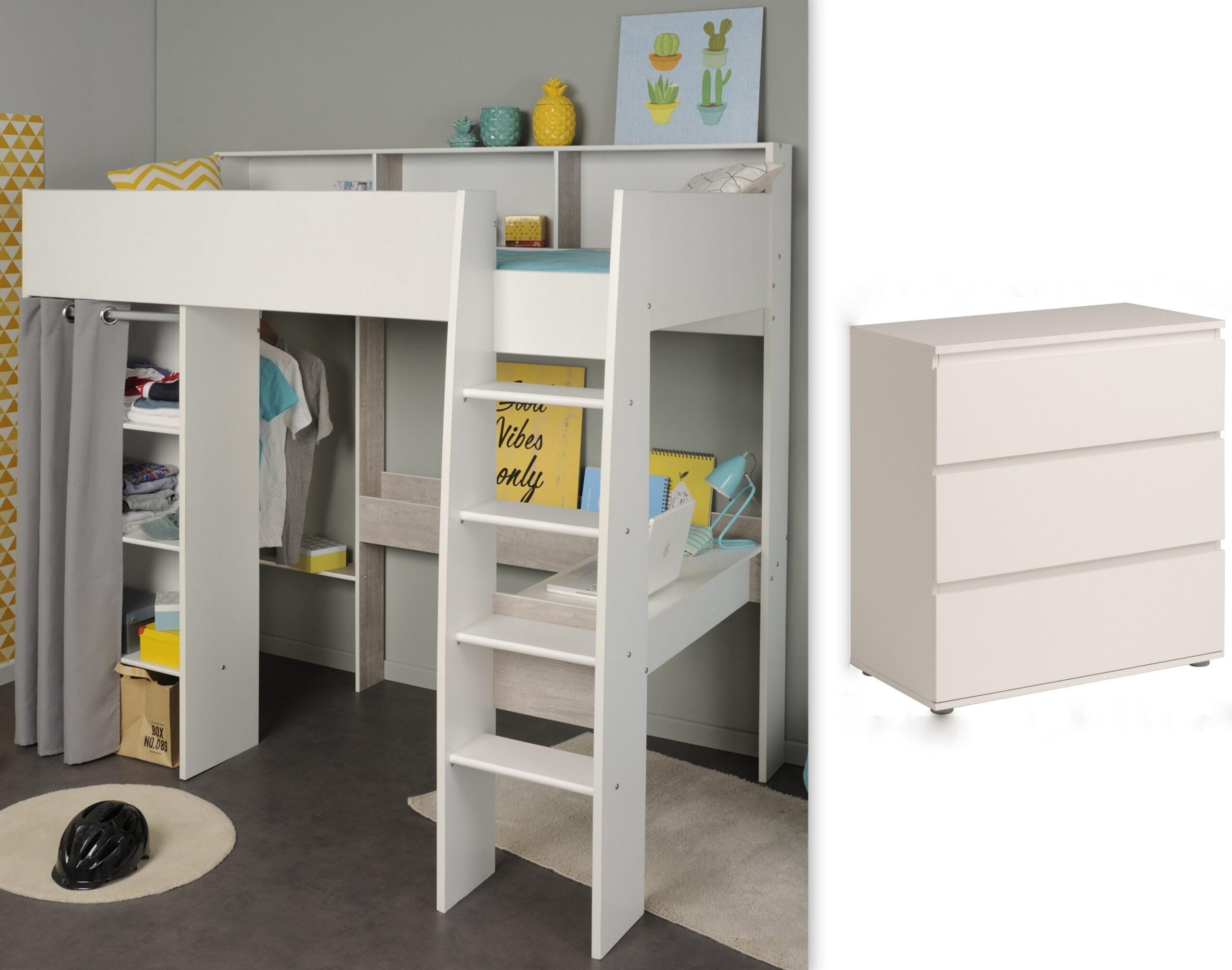 Full Size of Kinderzimmer Set 2 Tlg Inkl 90x200 Hochbett U Kommode 3 Regal Weiß Regale Sofa Kinderzimmer Hochbett Kinderzimmer