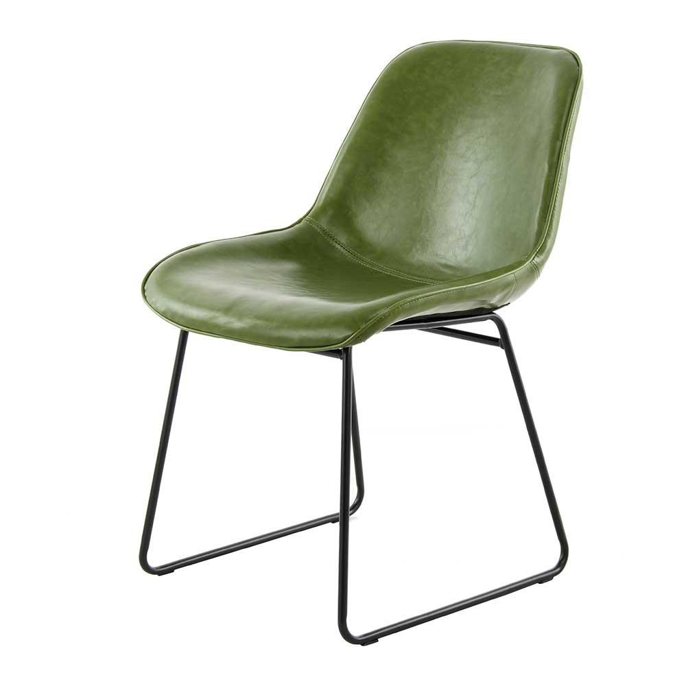 Full Size of Esstischstühle Esstischstuhl Dacura In Oliv Grn Kunstleder Mit Metallgestell Esstische Esstischstühle