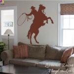 Kinderzimmer Pferd Kinderzimmer Cowboy Pferd Wandaufkleber Baby Schlafzimmer Lasso Regal Regale Sofa Weiß