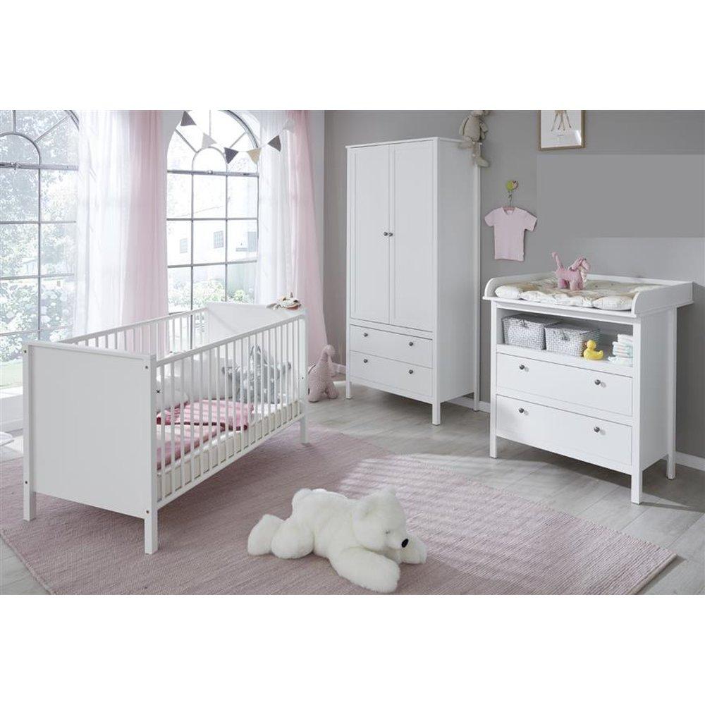 Full Size of Baby Kinderzimmer Komplett Gnstiges Babyzimmer Ole 3 Teilig Wei Furn Direct24 Schlafzimmer Weiß Bett Dusche Set Wohnzimmer Regale Regal Günstige Mit Kinderzimmer Baby Kinderzimmer Komplett
