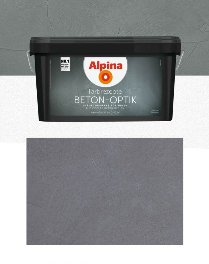 Medium Size of Alpina Betonoptik Farbe Set Bauhaus Hellgrau Auf Raufaser Farbrezepte Beton Optik Feine Farben Beton Optik Grau Toom Effektfarbe Komplett Obi Video Wandfarben Wohnzimmer Alpina Betonoptik