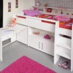 Parisot Swan 1 Kinderzimmer Hochbett 90x200cm Mit Schreibtisch Regal Regale Sofa Weiß Kinderzimmer Hochbetten Kinderzimmer