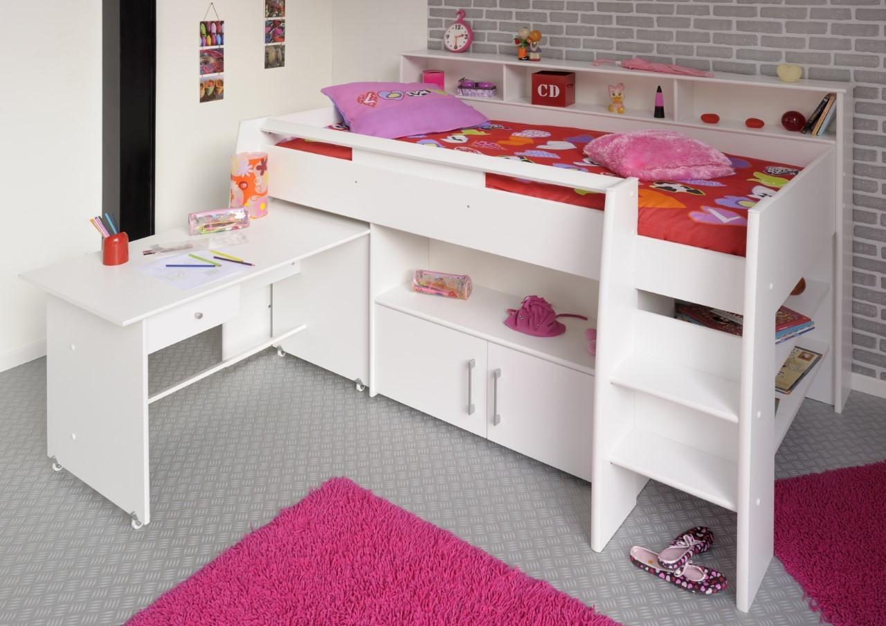 Full Size of Parisot Swan 1 Kinderzimmer Hochbett 90x200cm Mit Schreibtisch Regal Regale Sofa Weiß Kinderzimmer Hochbetten Kinderzimmer