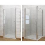 Nischentür Dusche Dusche Duschkabine Schwingtr Nischentr Duschabtrennung Seitenwand Glasabtrennung Dusche Begehbare Fliesen Duschen Einhebelmischer Ebenerdig 90x90 Grohe Thermostat