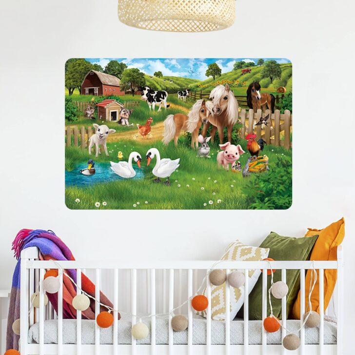 Medium Size of Selbstklebendes Wandbild Kinderzimmer Animal Club International Regal Weiß Wandbilder Schlafzimmer Wohnzimmer Sofa Regale Kinderzimmer Wandbild Kinderzimmer