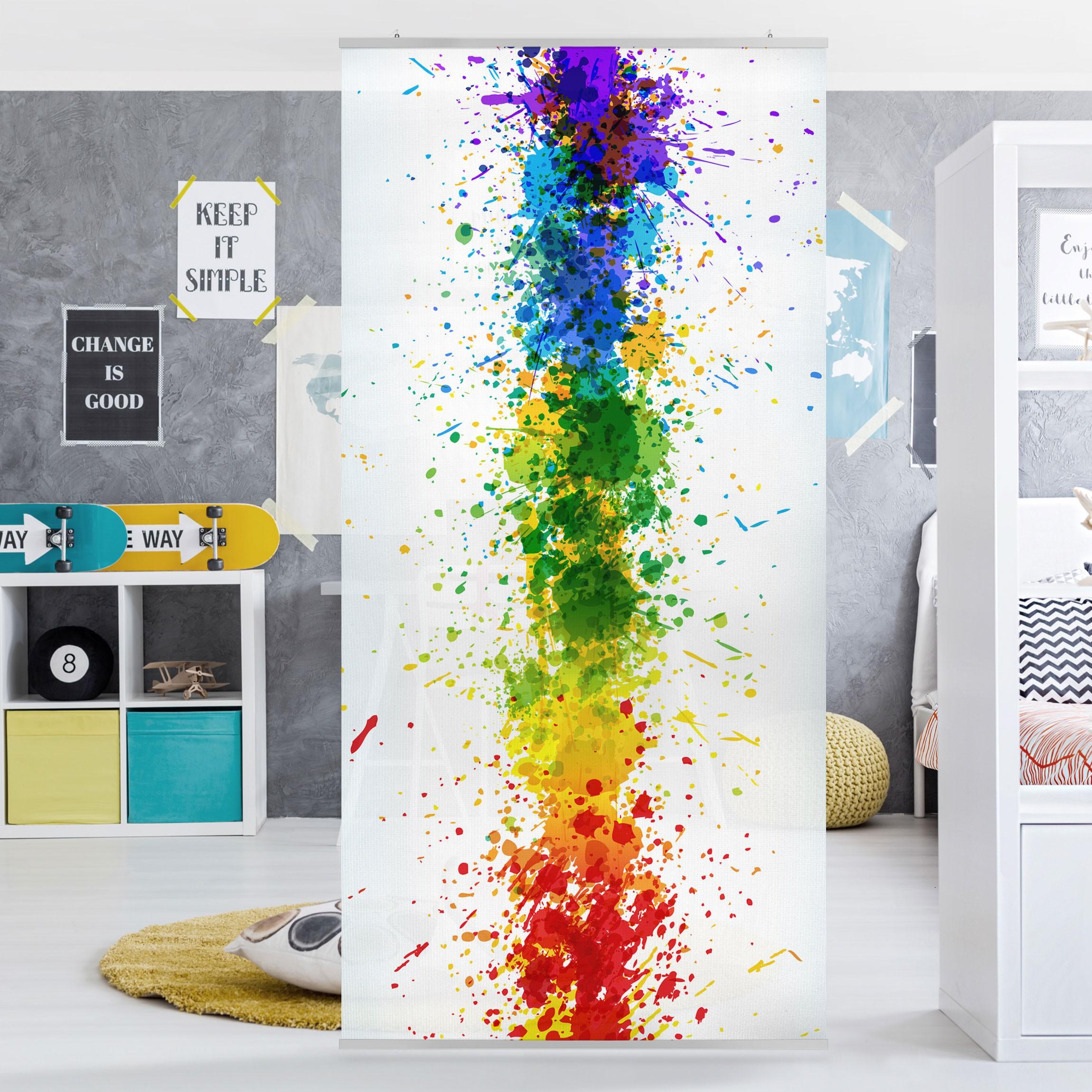 Full Size of Raumteiler Kinderzimmer Rainbow Splatter 250x120cm Regal Weiß Regale Sofa Kinderzimmer Raumteiler Kinderzimmer