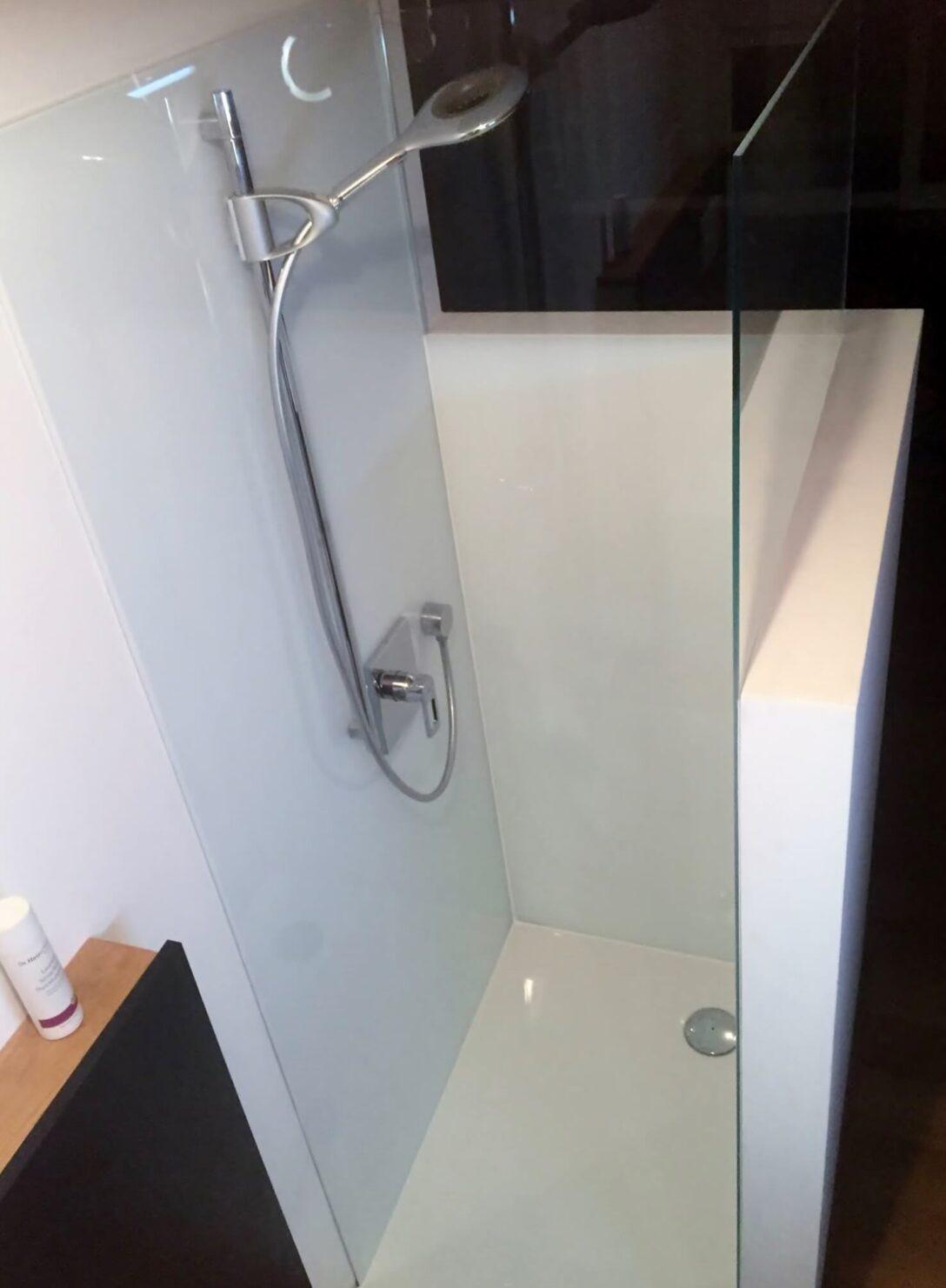 Large Size of Glaswand Dusche Glas Duschrckwand Statt Fliesen In Der Bodengleiche Duschen Moderne Grohe Für Mischbatterie Einhebelmischer Eckeinstieg Begehbare Ohne Tür Dusche Glaswand Dusche
