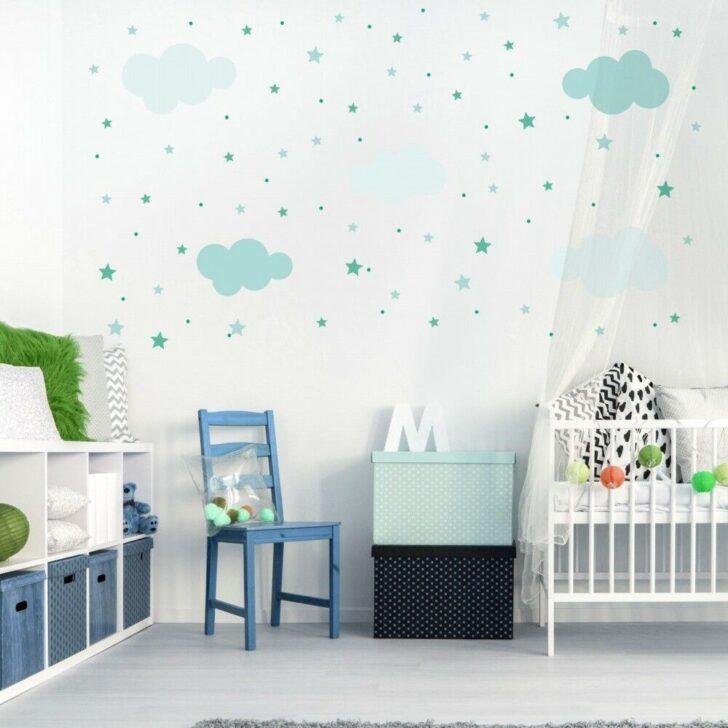 Medium Size of Wandsticker Kinderzimmer Junge 142 Wandtattoo Wolken Sterne Punkte Set Mint Wei Küche Regal Weiß Sofa Regale Kinderzimmer Wandsticker Kinderzimmer Junge