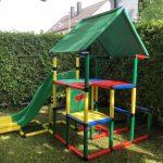 Kleines Kind Und Groer Spa Unser Liebt Rutschen Sehr Mit Klettergerüst Garten Wohnzimmer Quadro Klettergerüst