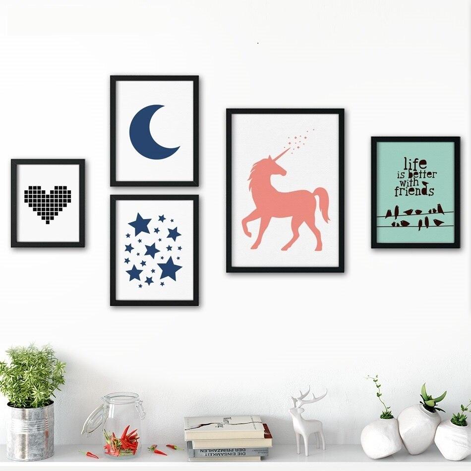 Full Size of Nordic Minimalismus Leinwand Kunst Pferd Liebe Stern Wand Sofa Regal Regale Weiß Kinderzimmer Kinderzimmer Pferd