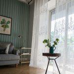 Wohnzimmer Gardinen Modern Wohnzimmer Gardine Wei Rose Design Großes Bild Gardinen Für Sofa Kleines Tisch Schrankwand Deckenleuchte Stehleuchte Küche Weiss Teppich Duschen Holz Hängeleuchte