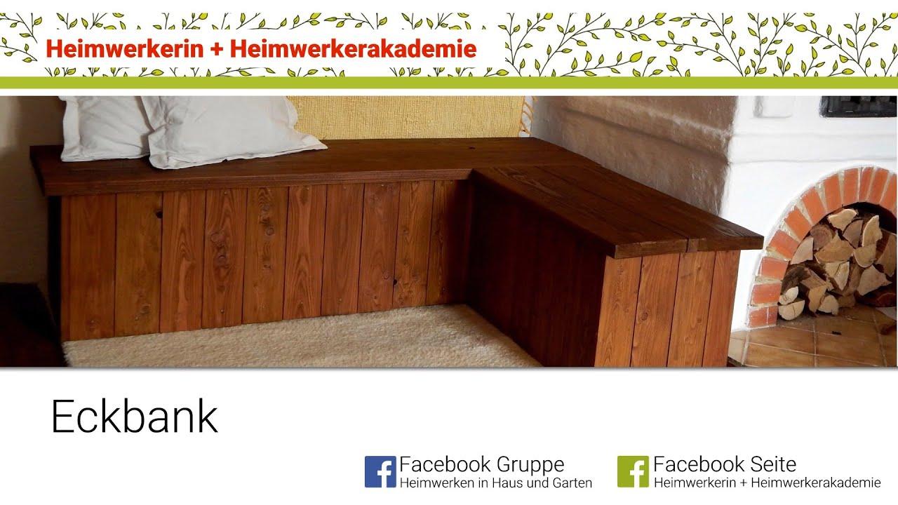 Full Size of Heimwerkerin Baut Eine Eckbank Youtube Fussballtor Garten Holzhaus Paravent Schaukel Für Gartenüberdachung Rattanmöbel Holzofen Küche Sofa Mit Holzfüßen Wohnzimmer Garten Eckbank Holz