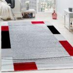Teppich Wohnzimmer Modern Designer Bordre Rot Teppichcenter24 Led Deckenleuchte Vorhänge Deckenstrahler Esstisch Stehleuchte Moderne Duschen Deckenlampen Wohnzimmer Teppich Wohnzimmer Modern