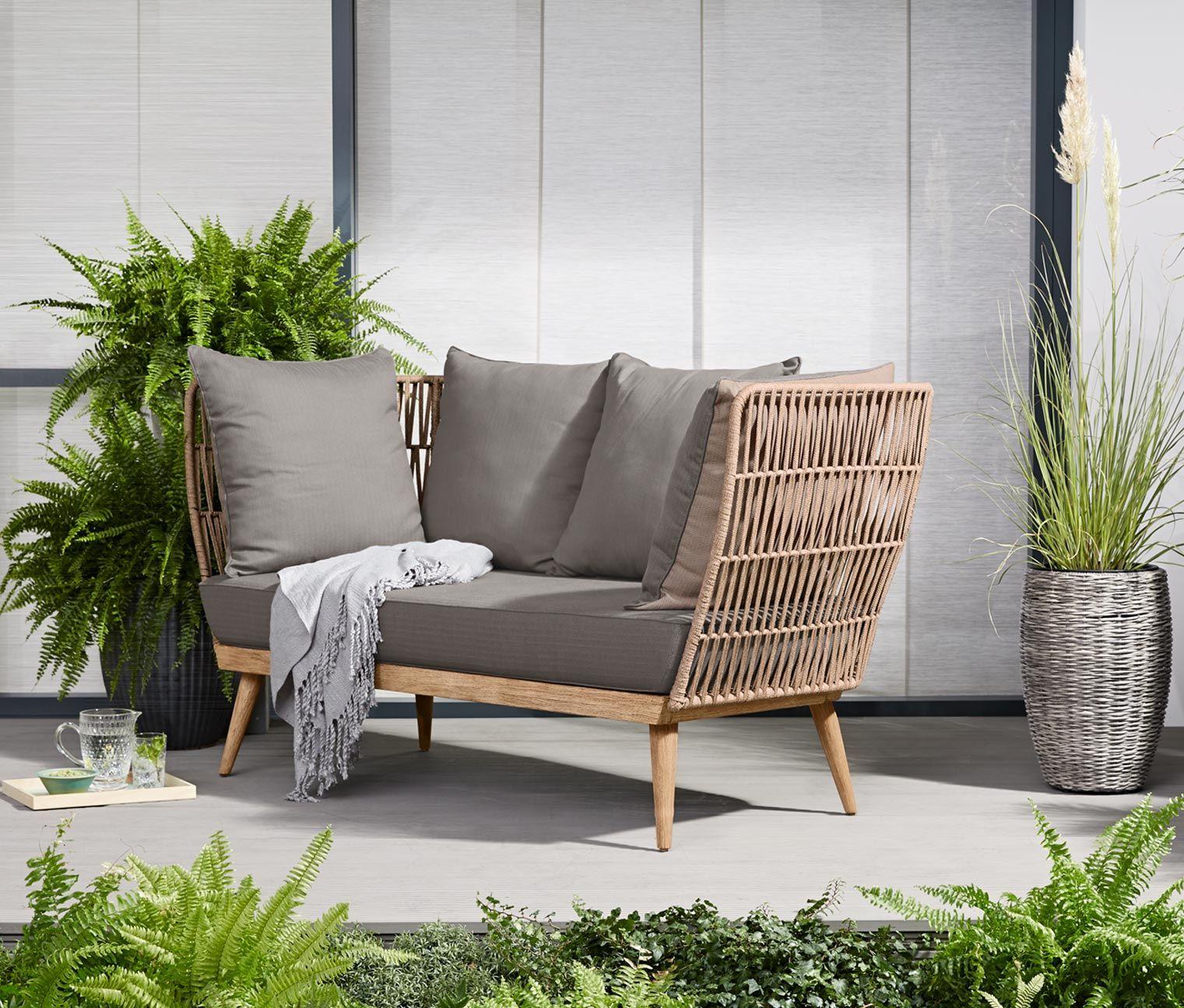 Full Size of Komfort Gartensofa Tchibo 2 In 1 Lounge Sofa Premium Mit Textilgeflecht Garten Wohnzimmer Gartensofa Tchibo