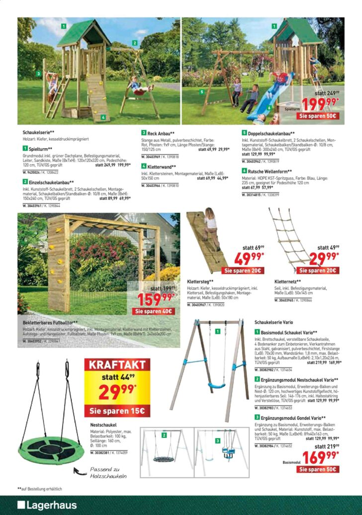 Medium Size of Lagerhaus Flugblatt 2632020 1242020 Rabatt Kompass Kinderspielturm Garten Bauhaus Fenster Spielturm Wohnzimmer Spielturm Bauhaus
