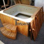 Jacuzzi Holz Hot Tub Mit Holzbefeuerung Eckig Modell 27 Bad Waschtisch Massivholz Schlafzimmer Bett Komplett Unterschrank Holzhaus Garten Regal Weiß Esstische Wohnzimmer Jacuzzi Holz