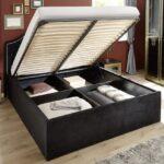 Klappbares Doppelbett Wohnzimmer Klappbares Doppelbett Eliza Schwarz Samt 180x200 Cm Stauraumbett Ausklappbares Bett