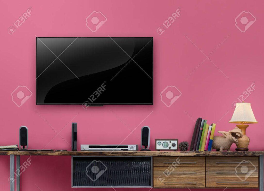 Large Size of Led Tv Holztisch Medienmbel Mit Rosa Wand Im Wohnzimmer Schrank Big Sofa Heizkörper Bad Braun Spiegel Schlafzimmer Stehlampe Liege Küche Schrankwand Kleines Wohnzimmer Wohnzimmer Led