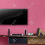 Led Tv Holztisch Medienmbel Mit Rosa Wand Im Wohnzimmer Schrank Big Sofa Heizkörper Bad Braun Spiegel Schlafzimmer Stehlampe Liege Küche Schrankwand Kleines Wohnzimmer Wohnzimmer Led