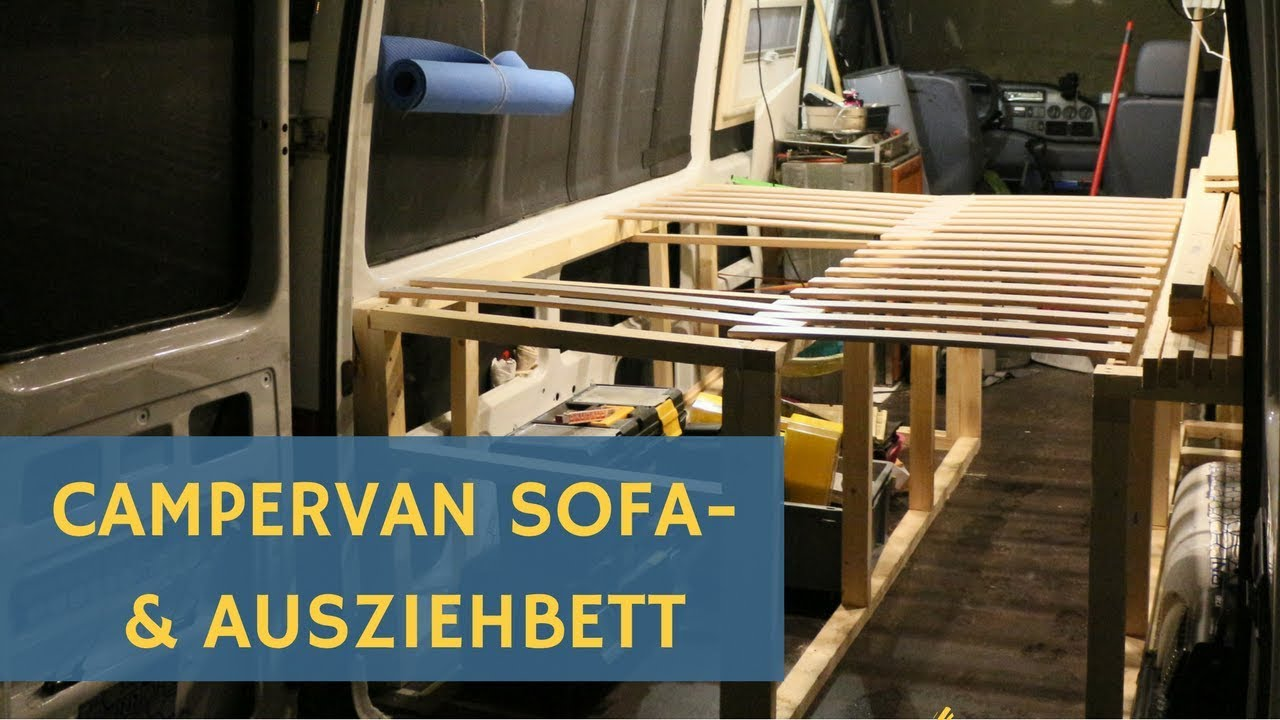 Full Size of Sprinter Wohnmobil Campervan Selbstausbau Bett Zum Ausziehen Mit Ausziehbett Wohnzimmer Ausziehbett Camper