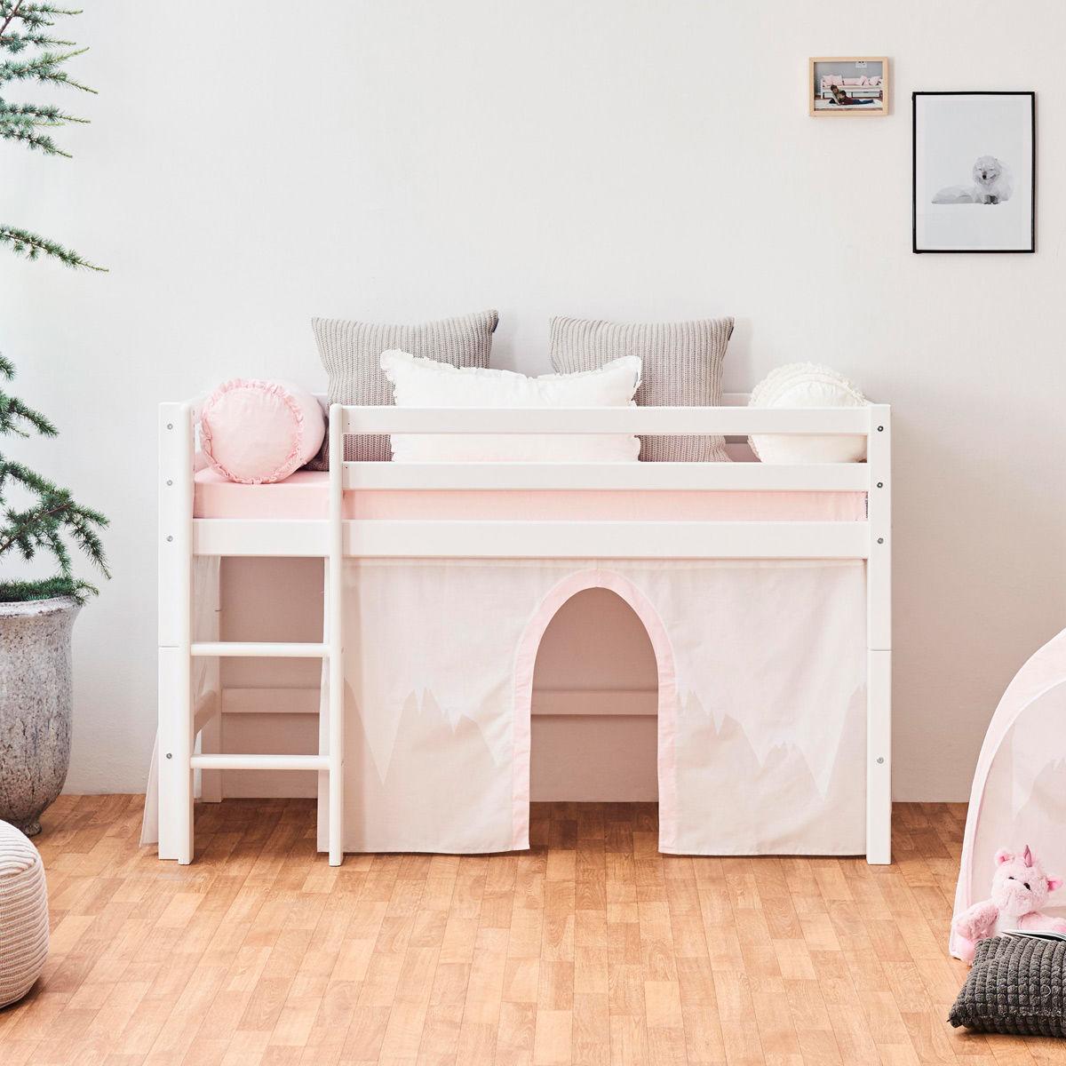 Full Size of Halbhohes Hochbett Hoppekids Bett Basic Zum Aktionspreis Wohnzimmer Halbhohes Hochbett