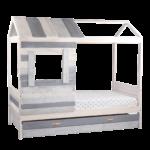 Kinderbett In Hausform Grau Wei Ca 90x200 Cm Spielbett Inkl Coole T Shirt Sprüche Betten T Shirt Wohnzimmer Coole Kinderbetten