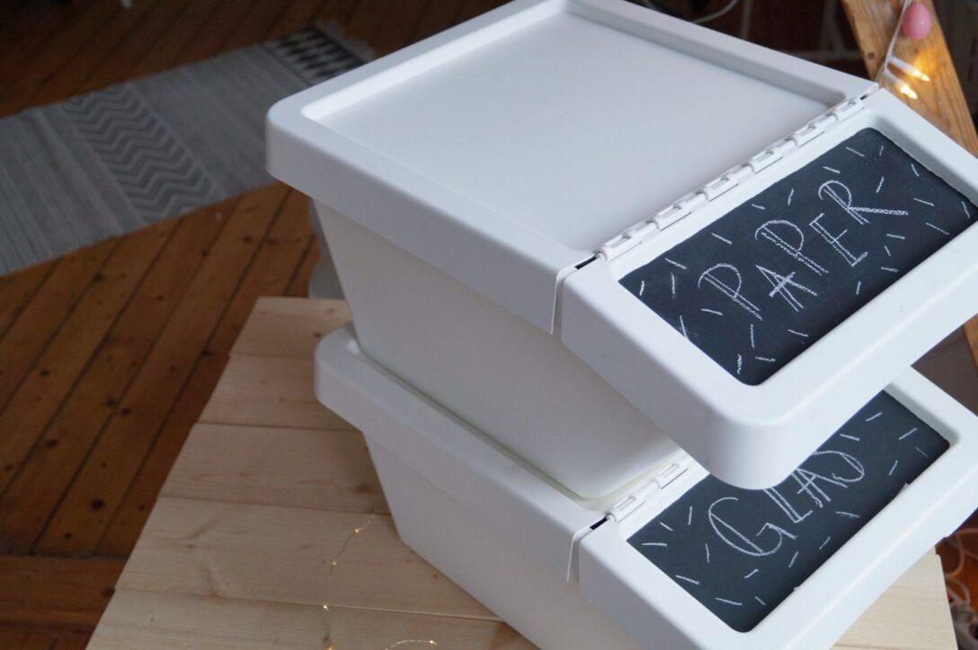 Large Size of Ikea Hack Stilvolle Mlltrennung In Der Kche Apothekerschrank Küche Theke Was Kostet Eine Kaufen Granitplatten Modulküche Grau Hochglanz Arbeitstisch Günstig Wohnzimmer Mülleimer Küche Ikea