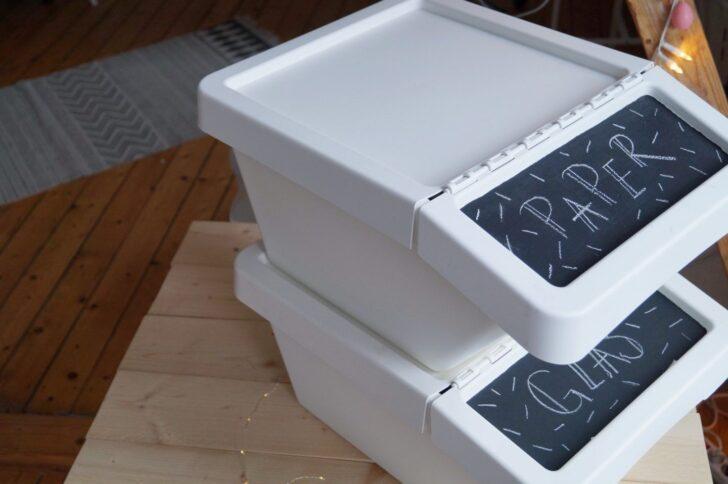 Medium Size of Ikea Hack Stilvolle Mlltrennung In Der Kche Apothekerschrank Küche Theke Was Kostet Eine Kaufen Granitplatten Modulküche Grau Hochglanz Arbeitstisch Günstig Wohnzimmer Mülleimer Küche Ikea