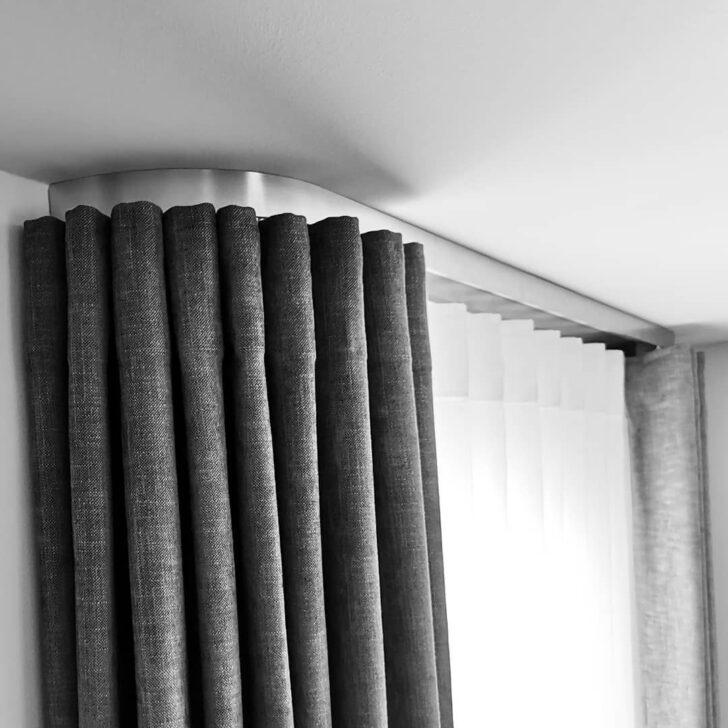 Medium Size of Moderne Schiene Mit Blende Vorhänge Wohnzimmer Schlafzimmer Küche Wohnzimmer Vorhänge Schiene