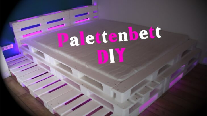 Medium Size of Bauanleitung Bauplan Palettenbett Mit Lattenrost Wohnzimmer Bauanleitung Bauplan Palettenbett